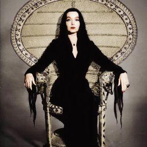 Morticia Adams gothic occult art decor